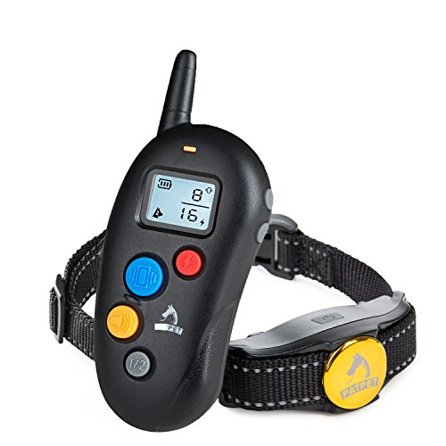 Dog Training Collar with Remote,Blind Operation with Anti-stuck Button Remote up to 330yd Range,Rechargeable and Waterproof,Shock Collar for dog with Beep /Vibration/Shock Electronic Collar ()