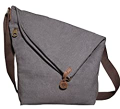 Loving the Buying For Fun Canvas Slouchy Crossbody Bags Reasons  We love the vintage, unique, asymmetrical design of The Buying For Fun Company canvas cross body bag. The long adjustable strap makes it easy to wear cross body or over the shou...