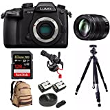 PANASONIC LUMIX DC-GH5 Body 4K Mirrorless Camera + PANASONIC H-HSA12035 F2.8 II LENS 12-35MM + 128GB Bundle