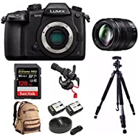PANASONIC LUMIX DC-GH5 Body 4K Camera + PANASONIC H-HSA12035 + 128GB Bundle