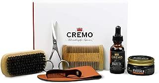 product image for Cremo Beard Starter Set for Big Best Beards, 100% Boar Bristle Brush, Sandalwood Beard Comb, Beard Shears, Beard Oil, Beard Balm