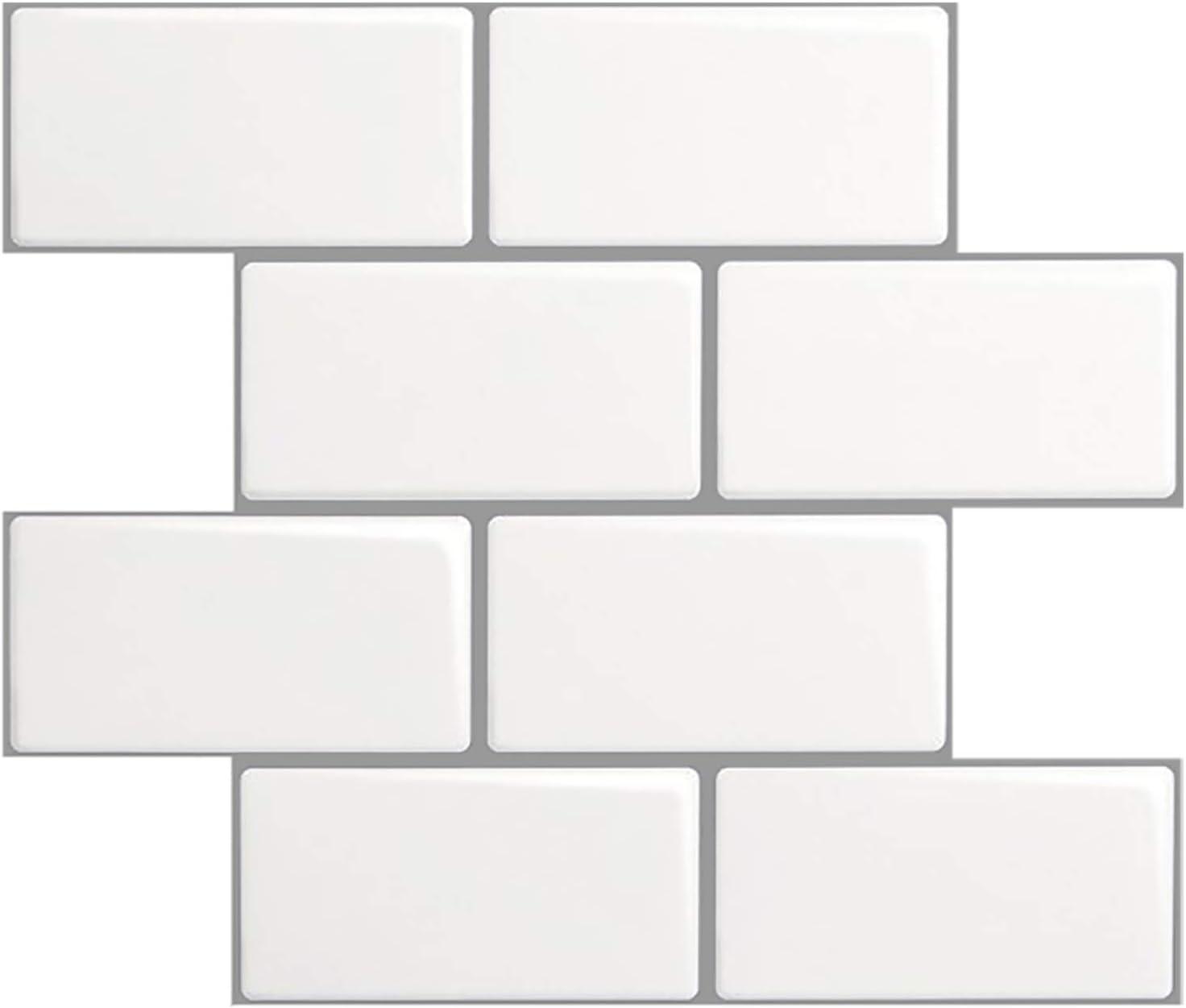 Art3d 10 SF Self-Adhesive Backsplash Tiles, Faux Marble Tiles (A601, Thicker Design)