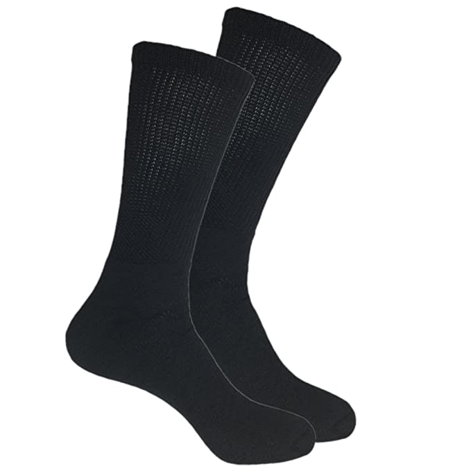 69448e5f4821 Mens Big and Tall Crew Socks Size 13-15 Loose Top Cotton (6-pairs ...