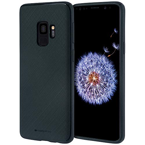 GOOSPERY Galaxy S9 Case [Slim Fit] Style Lux [Flexible] Rubber Silicone TPU Case [Non Slip] Bumper Cover [Lightweight] for Samsung Galaxy S9 (Matte Navy) S9-STYL-NVY