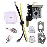 PODOY SRM210 Carburetor PE200 Carb Fuel Line Kit Primer Bulb for ECHO Weed Eater GT200 SRM 210 PE 200 HC150 SRM211 GT200 Trimmer Parts
