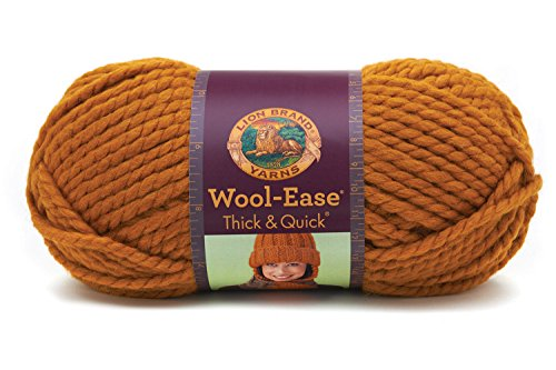 Lion  640-189A Wool-Ease Thick & Quick Yarn , 97 Meters, Butterscotch