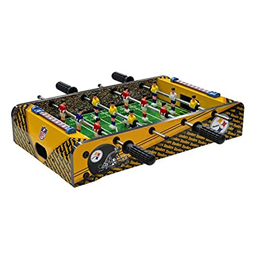 NFL Pittsburgh Steelers Table Top Foosball, Black/Gold/White, - Pittsburgh Pool Cover Table