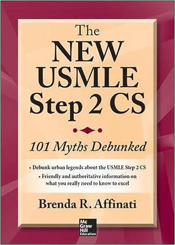 The New USMLE Step 2 CS: 101 Myths Debunked: Brenda R