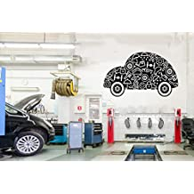Auto service, tires, repair, car washing,car,Wall Decal, Window Sticker,Handmade 2251