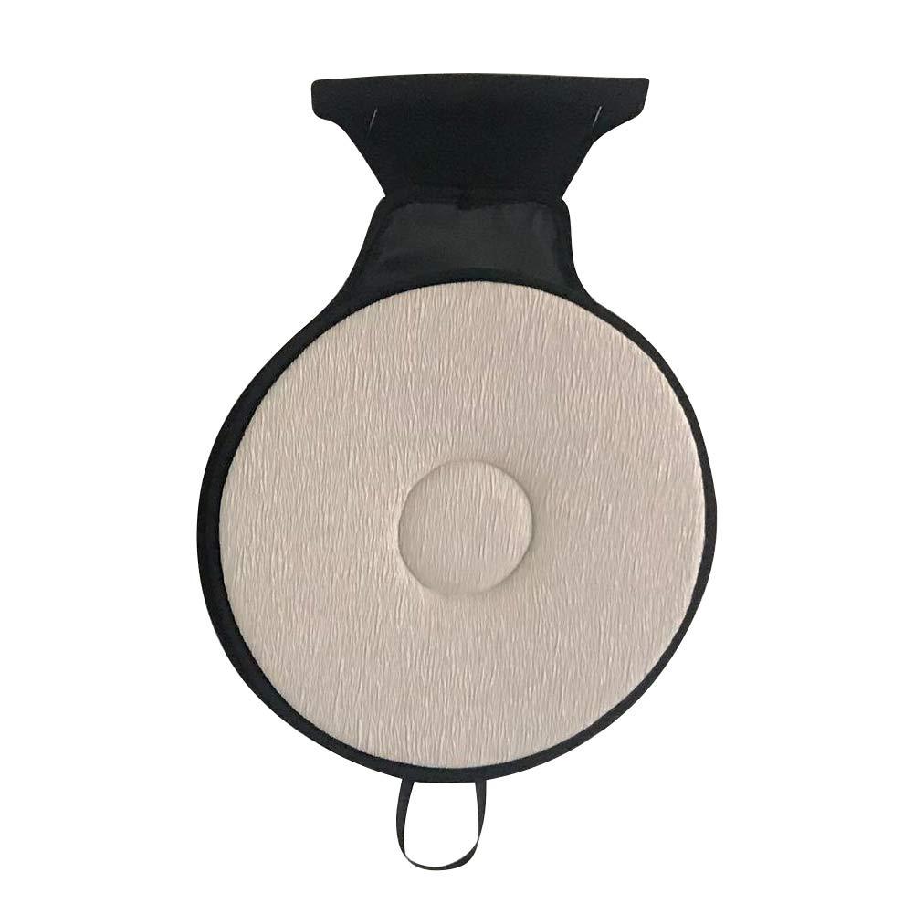 KATURN Rotation 360° Memory Sponge Rotating Car Seat Car Cushion Breathable Cover Fixed Base Home Office Car Seat Swivel Cushion (Dark Gray)