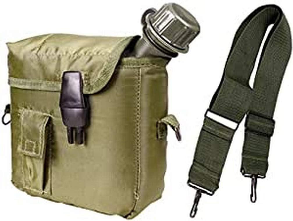 MFH - Funda de piel con correa y diseño militar
