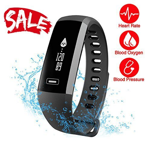 Heart Rate Pro Watch Monitor (Smart Watch Fitness Tracker READ R5.PRO Heart Rate Monitor Blood Pressure Bracelet Pedometer Activity Tracker Sleep Monitoring Call SMS SNS Remind Watch for Android IOS (black))