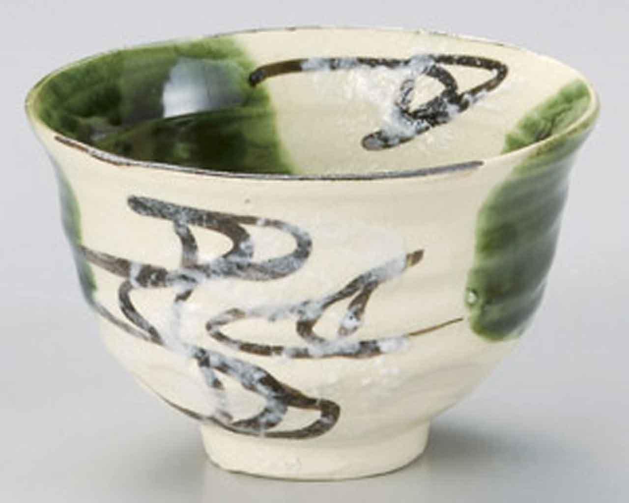 Oribe Ryusui 4.9inch Set of 10 Ramen-Bowls Beige Ceramic Made in Japan