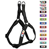 Pawtitas Pet Soft Adjustable Step-In Reflective Puppy/Dog Harness Extra Small 3/8 Inch Black