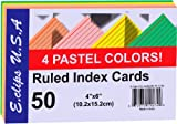 DDI 1454334 Index Cards - Pastel Asst. Colors - 4x 6- 50 ct -Pack of 60