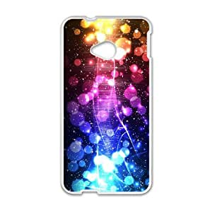 HTC One M7 Cell Phone Case White love Heart Abstract Graphics