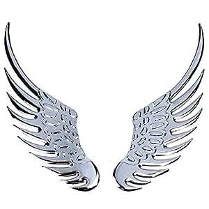 Adhesivo cromado, diseño de alas de ángel adhesivo coche tuning car sticker metal