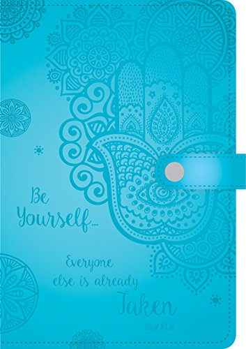 Leatherette Journal (Paperworks Inspirational Embossed Leatherette Journal with Magnetic Close, 256 Lined Pages, Assorted Colors, Color May Vary (86048))