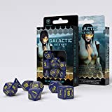 Q Workshop QWOGAL45 Galactic Dice Set Board Game, Navy/Yellow