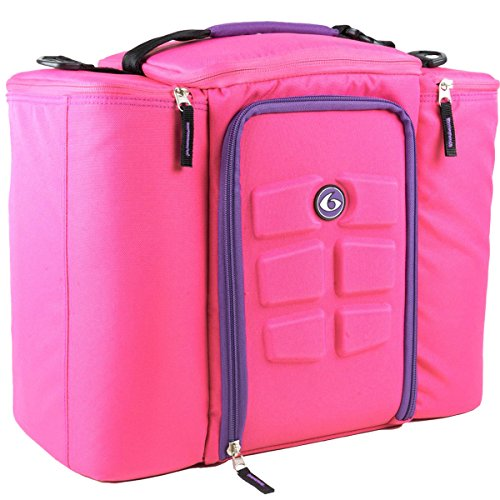 Innovator Insulated Meal Management Bag, Pink, 500 (5 Meals) by 6 Pack Fitness (Image #1)