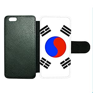 Case Fun Case Fun Flag of South Korea Faux Leather Wallet Case Cover for Apple iPhone 6 4.7 inch