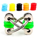 Fidget Toys for Sensory Kids - Flippy Chain Fidget Toy + 20 Colorful Silicone Rings - Fidget Toys for Adults / Fidget toys for ADHD / Anxiety