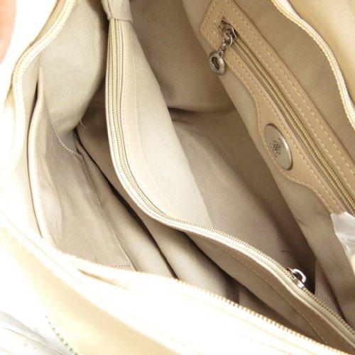 Fuchsia [J9733] - Sac cuir 'Fuchsia' beige