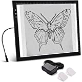 A3 Light Box Light Pad New Improved Frame Structure Design Touch Dimmer 11W Super Bright Max 3000 Lux with Free Carry/Storage Bag 2 Years Warranty (A3 Light pad)