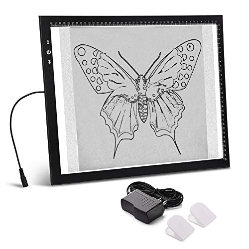 A3 Light Box Light Pad Aluminium Frame Touch Dimmer 11W Super Bright Max 3500 Lux with Free Carry/Storage Bag 2 Years Warranty (A3 Light pad) (Best Tracing Light Box)