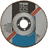 PFERD Polifan SG Abrasive Flap Disc, Type 27, Round Hole, Phenolic Resin Backing, Aluminum Oxide