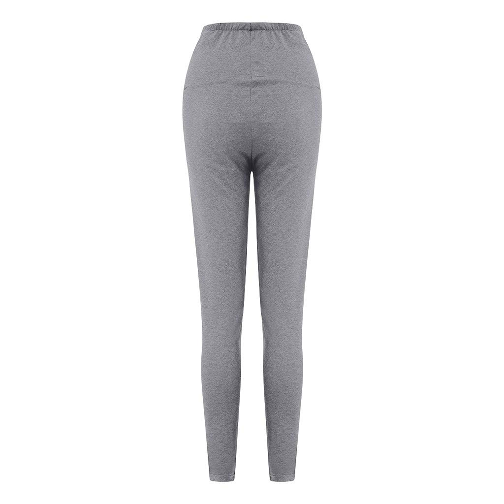 Maternity Clothes HOSOME Womens Maternity Leggings Seamless Solid Pants Stretch Pregnancy Trousers
