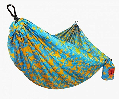 Grand Trunk Junior Parachute Nylon Hammock: Portable with Carabiners and Haning Kit: Perfect for Outdoor Adventures, Backpacking, and Festivals, Kid's - Parachute Grand Hammock Trunk