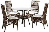 Panama Jack Sunrooms 6 PCPJS-2001-DIN Bora Bora Dining Set with Cushions, Light Beige
