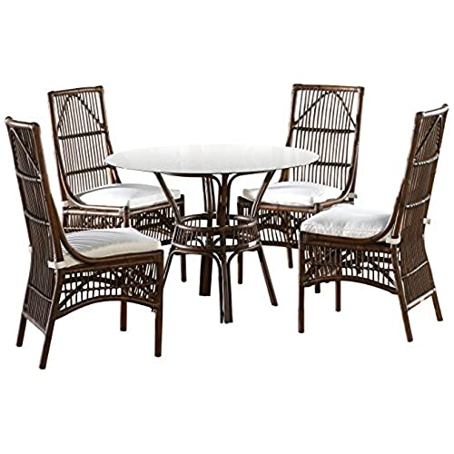 Panama Jack Sunrooms 6 PCPJS 2001 DIN Bora Bora Dining Set With Cushions,  Light Beige