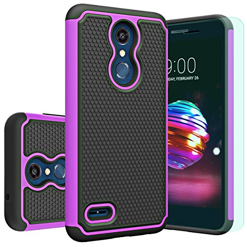 LG K30 Case,LG K10 2018 Case with HD Screen Protector Huness Durable Armor and Resilient Shock Absorption Case Cover for LG K10 2018,LG K30 Phone - For Phones Covers Lg