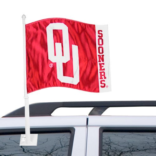 Fremont Die NCAA Oklahoma Car Flags, One Size, Multicolor Pro-Motion Distributing - Direct 59053