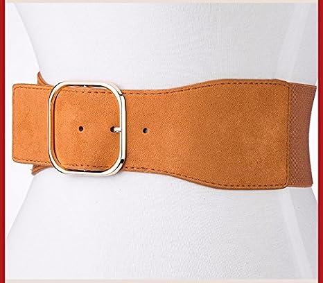 au printemps 2018 ceinture élastique femmes manteau robe pull décorés de largeur  sous gaine,brown  Amazon.fr  Sports et Loisirs 8edad2c25fa