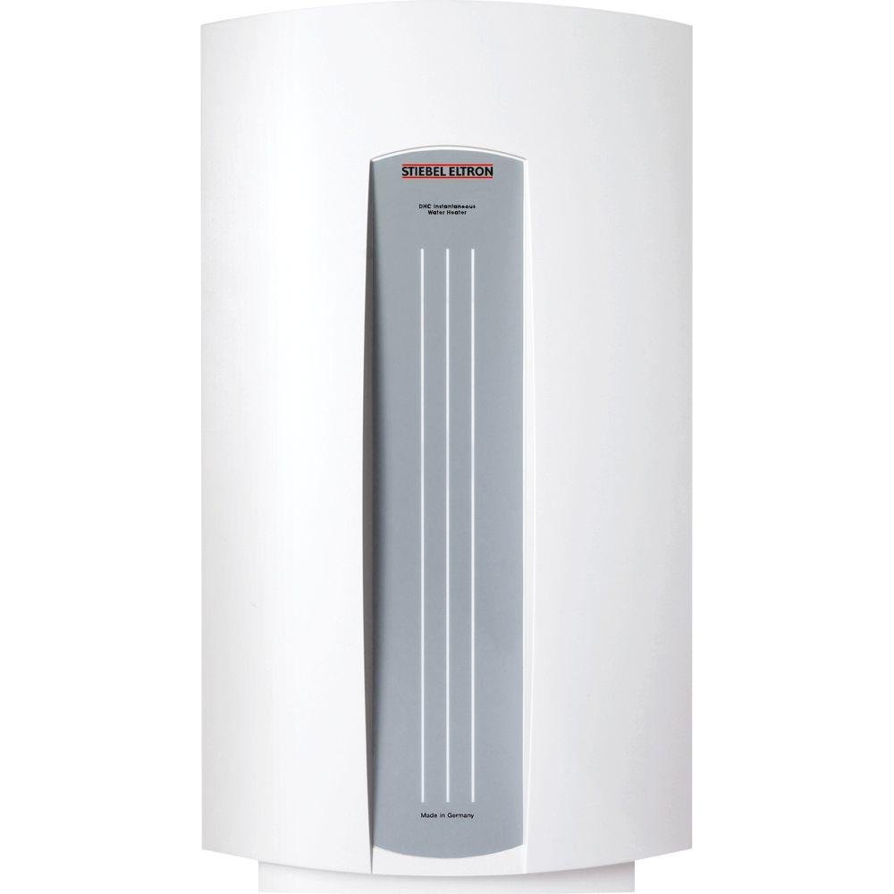 Tankless Water Heater Electric Powered DHC 5-2 0.73 GPM Point-of-Use with Sleek European Design and Overheat Safety Protection, Ideal for Sink Applications