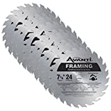 framing blades 10pack - Avanti A0724A 7-1/4-inch 24T 5/8-inch Arbor Framing Circular Saw Blades, 10-Pack