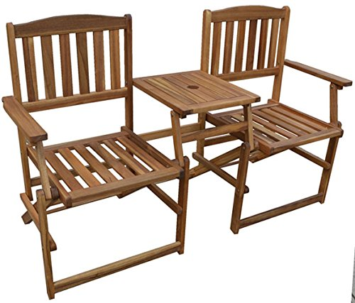 Patio Wise PWFN-018 Chairs with Built in Table