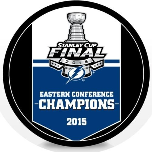 - 2015 Tampa Bay Lightning NHL Stanley Cup Eastern Conference Champions Hockey Puck (Sherwood)