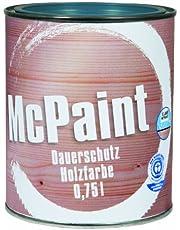Sparen Sie bei McPaint Wetterschutzfarbe – Holzfarbe für außen auf Acryl Basis mit langanhaltendem Wetterschutz, PU-verstärkt, Möbellack, seidenmatt, 0,750L, Taubenblau, RAL 5014 - Weitere Farbtöne verfügbar und mehr