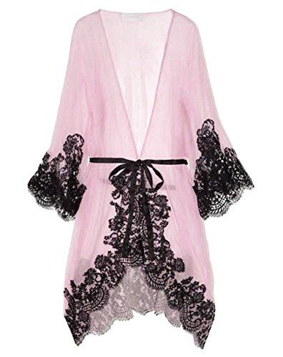 Dame-reizvolle Nachtwäsche Chemise Kimono Schlaf-Nachtkleid Bademantel