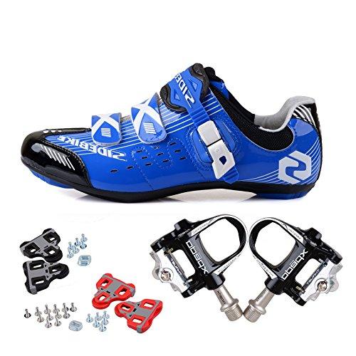Vlo Dessus Bleues Route Avec Une Au Hommes 1 Sur Respirantes Taille Noires Professionnelles Pour De Votre Chaussures veuillez Choisir Cyclisme Pdales Habituelle Paire WUptqwx1n8