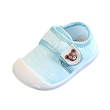 f94c353d0ea Amazon.com   Sttech1 Baby Shoes Soft Sole Crawling Cartoon Bear Non-Slip  Infant Toddler First Walker Slippers   Baby