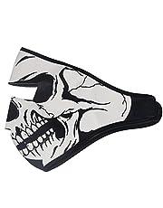 ThreeH Schedel Masker Zwart Omkeerbaar Volledig Gezicht Masker Ski Motorfiets Sport Hals Warmer FM08