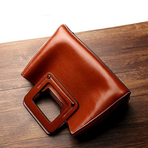 Tracolla Borse Cerniera Cinturino Borsa Eleganti Marrone Regolabile Crossbody Zhuhaijq E Donna cgApwwOz