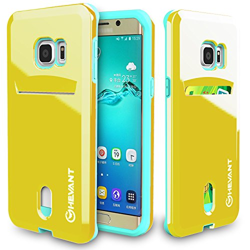 Ghevant for Galaxy S6 Edge Plus,S6 Edge+ Case,Card Design Case For S6 Edge Plus,Smooth Surface Case for S6 Edge Plus(Yellow)