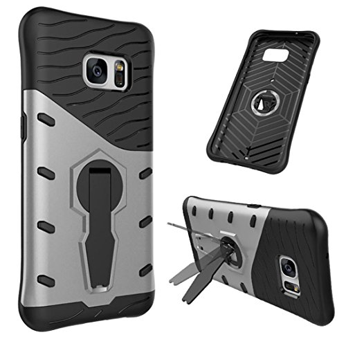 Price comparison product image Mchoice Hybrid ShockProof Stents Scratch-Resistant Case Cover for Samsung Galaxy S7 (Silver)