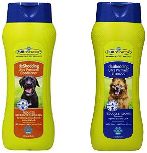 Furminator deShedding Ultra Premium Shampoo, 16 Ounces, and